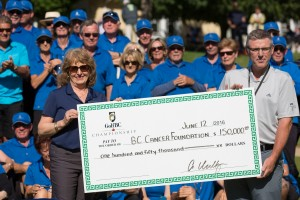 $150,000 presented to the BC Cancer Foundation